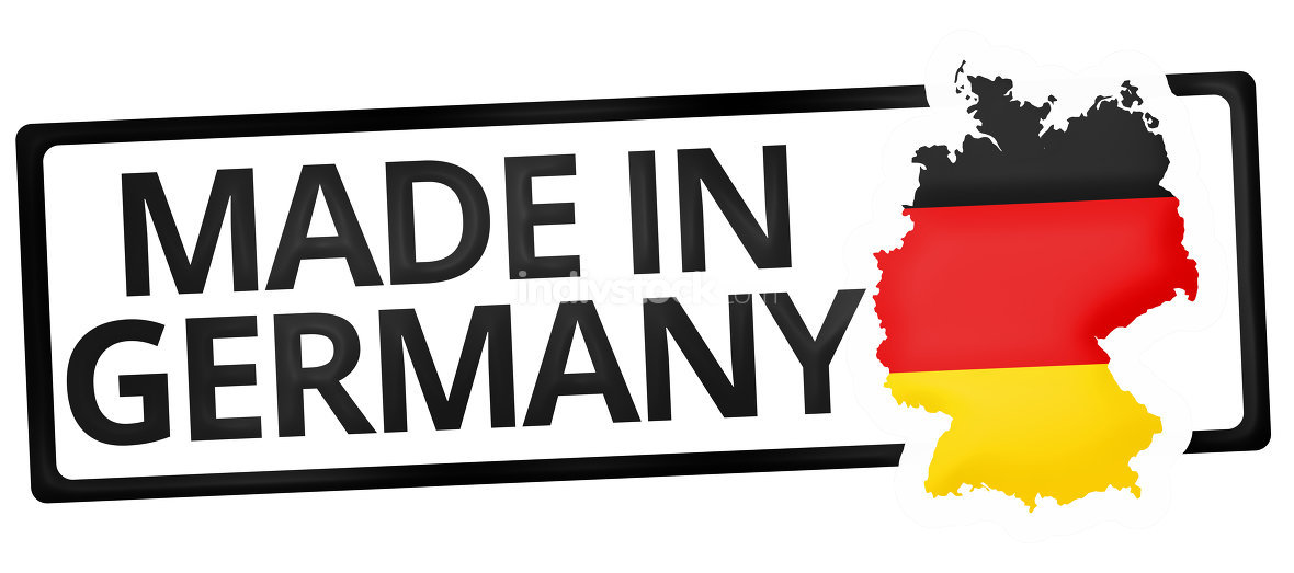 free download stock photo: made in germany symbol colored design/ Wetzkaz